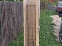 Опалубка для столба забора бетонного: установка и размеры