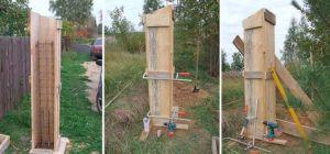 Сборка и использование опалубки для столбов забора