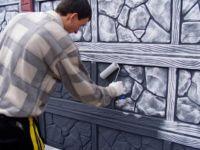 Красим бетонные заборы под камень: какой краской и чем