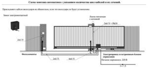 Схема установки и подключения привода
