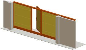 Особенности уличных ворот со встроенной и отдельно стоящей калиткой