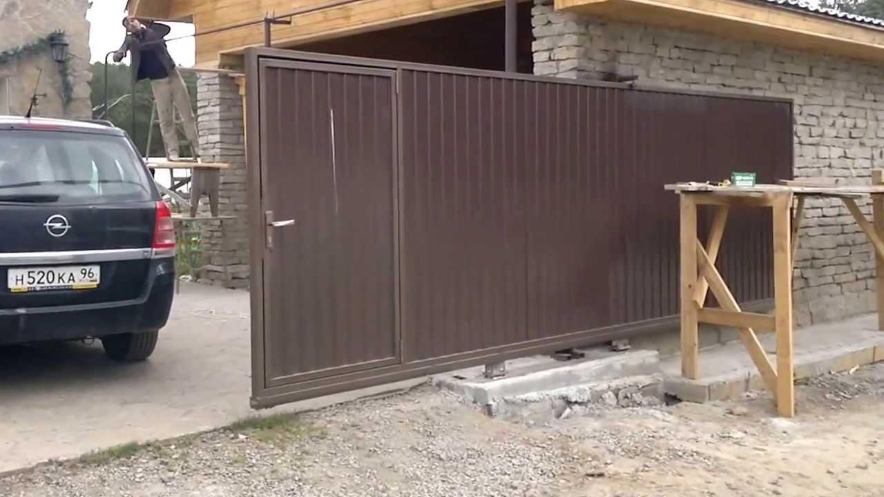 инструкция по монтажу навесных откатных ворот